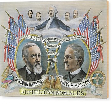 Presidential Campaign, 1888 Wood Print by Granger
