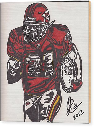 Wood Print featuring the drawing Priest Holmes 2 by Jeremiah Colley