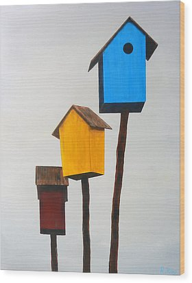 Primary Residence Wood Print by Robert Roy