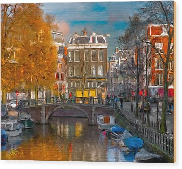Wood Print featuring the photograph Prinsengracht 807. Amsterdam by Juan Carlos Ferro Duque