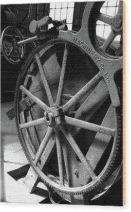 Prison Gear Wood Print by Elizabeth Richardson