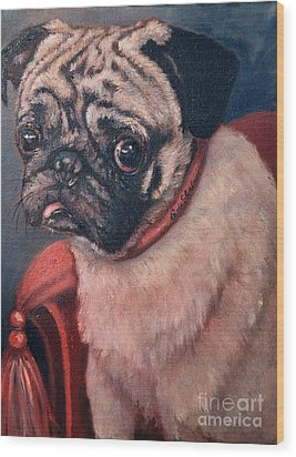 Pugsy Wood Print