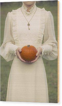 Pumpkin Wood Print by Joana Kruse