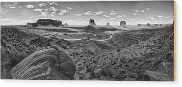 Pure Monument Valley Wood Print by Andreas Freund