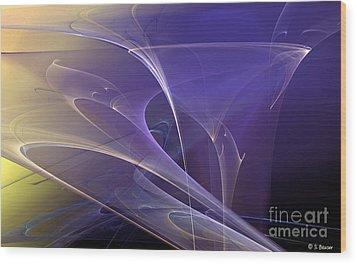 Purple Haze Wood Print by Sandra Bauser Digital Art