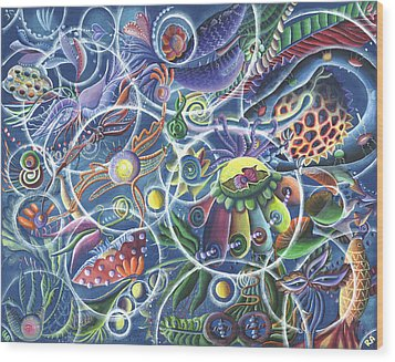 Quantum Entanglement Wood Print by Vera Tour