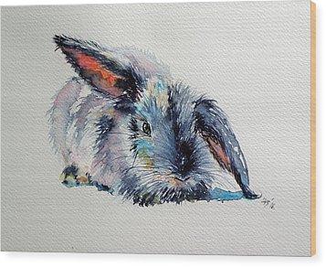 Rabbit Wood Print by Kovacs Anna Brigitta