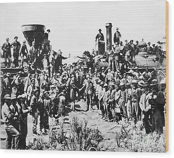 Railroading Wood Print by Granger