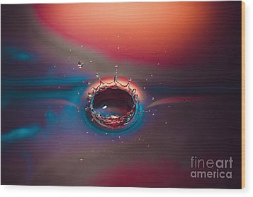 Rainbow Splash Wood Print