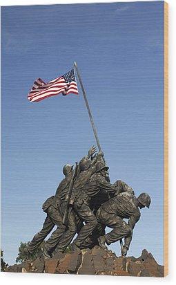 Raising The Flag On Iwo - 799 Wood Print