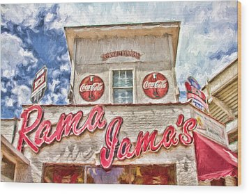 Rama Jama's Wood Print by Scott Pellegrin