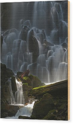 Ramona Falls Oregon Wood Print
