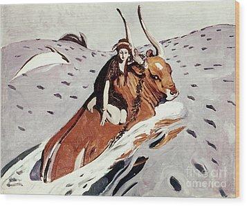 Rape Of Europa Wood Print by Granger