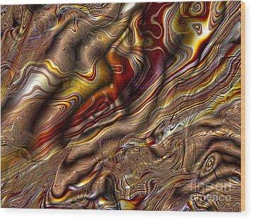 Wood Print featuring the digital art Rare Silk by Richard Ortolano