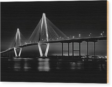Wood Print featuring the photograph Ravenel Bridge by Bill Barber