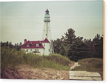 Wood Print featuring the photograph Rawley Point Lighthouse by Joel Witmeyer
