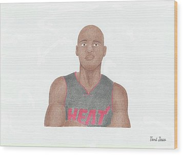 Ray Allen Wood Print by Toni Jaso