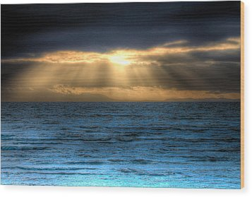 Rays Of Light 2 Wood Print by Naman Imagery