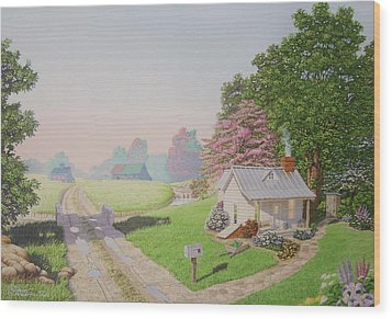 Rebeccas Cottage Wood Print
