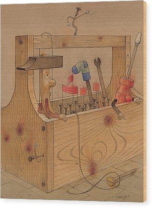 Rebellion Against Dictator Hammer Wood Print by Kestutis Kasparavicius