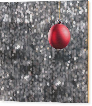 Wood Print featuring the photograph Red Christmas by Ulrich Schade