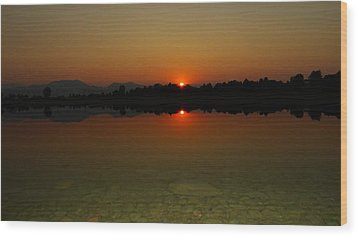 Wood Print featuring the photograph Red Dawn by Eric Dee