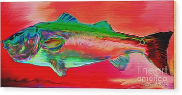 Red Drum Wood Print by Everett White