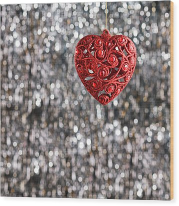 Wood Print featuring the photograph Red Heart by Ulrich Schade