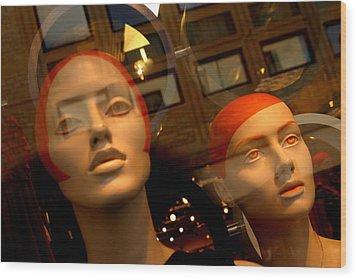 Reddy Girls Wood Print by Jez C Self