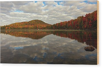 Wood Print featuring the photograph Autumn Reflections by Mike Lang
