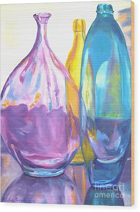 Reflections In Glass Wood Print by Lisa Boyd