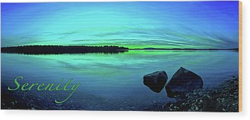 Wood Print featuring the photograph Reflections Of Serenity 2 by ABeautifulSky Photography