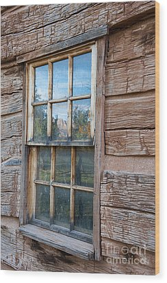 Reflections Of Time Wood Print by Sandra Bronstein