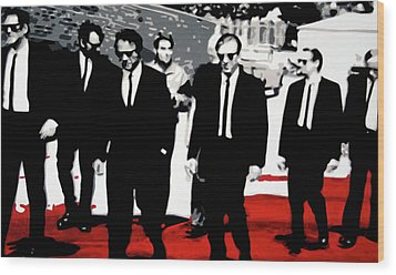 Reservoir Dogs Wood Print by Luis Ludzska