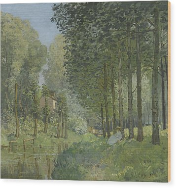 Rest Along The Stream  Wood Print by Alfred Sisley
