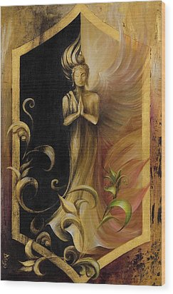 Revelation And Enlightenment Wood Print by Dina Dargo