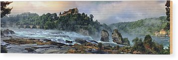 Rhinefalls, Switzerland Wood Print by Elenarts - Elena Duvernay photo