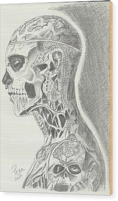 Rick Genest Wood Print by Priya Paul