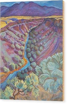 Rio Grande In September Wood Print by Gina Grundemann
