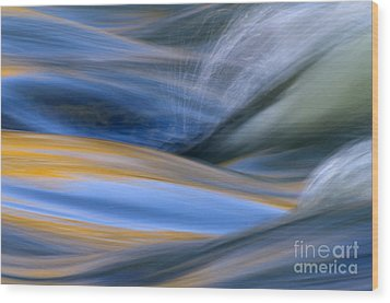 River Wood Print by Silke Magino