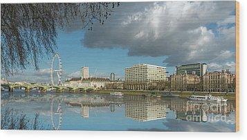 River Thames London Wood Print