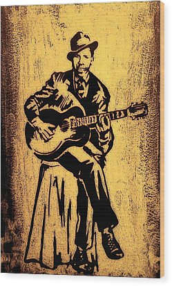 Robert Johnson Wood Print