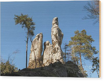 Wood Print featuring the photograph Rock Formations In The Bohemian Paradise Geopark by Michal Boubin