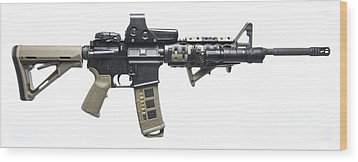 Rock River Arms Ar-15 Rifle Equipped Wood Print by Terry Moore