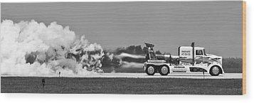 Rocket Truck Wood Print