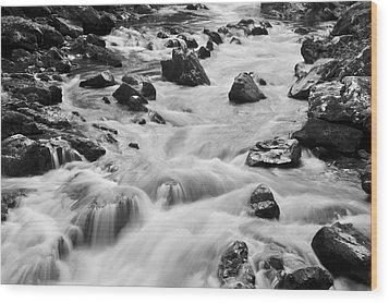 Rocky River Wood Print by Svetlana Sewell