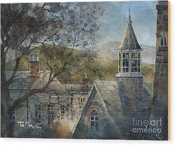 Rooftops Of Old Edwards Wood Print by Tim Oliver