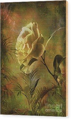 Rose Wood Print by Andrzej Szczerski