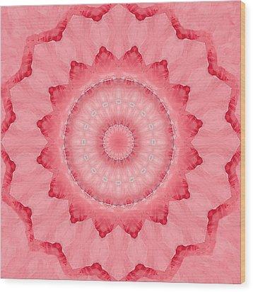 Wood Print featuring the digital art Rose by Elizabeth Lock