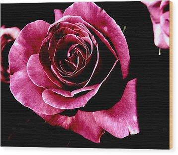 Rose Wood Print by Mohammed Nasir